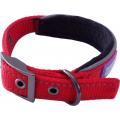 "Hem And Boo Reflective & Padded Nylon Buckle Collar Medium 3/4"" X 14-18"" (35-45cm) Red"