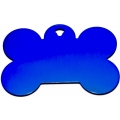Engraved Small Blue Bone Dog Tag - Cat Tag