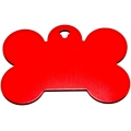 Engraved Large Red Bone Dog Tag - Cat Tag