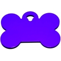 Engraved Large Purple Bone Dog Tag - Cat Tag
