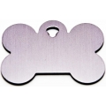 Engraved Small Silver Bone Dog Tag - Cat Tag