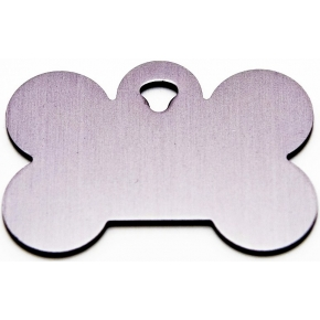 Engraved Large Silver Bone Dog Tag - Cat Tag