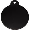 Engraved Large Black Circle Dog Tag - Cat Tag