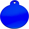 Engraved Large Blue Circle Dog Tag - Cat Tag
