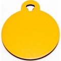 Engraved Large Gold Circle Dog Tag - Cat Tag