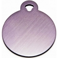 Engraved Small Silver Circle Dog Tag - Cat Tag