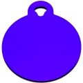 Engraved Small Purple Circle Dog Tag - Cat Tag