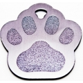 Engraved Silver Paw Print Dog Or Cat Tag