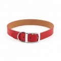 """Ancol Collar Red Leather Plain 16"""""""