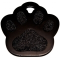 Engraved Black Paw Print Dog Tag - Cat Tag