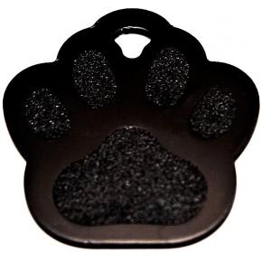 Engraved Black Paw Print Dog Tag - Cat Tag