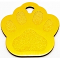 Engraved Gold Paw Print Dog Tag - Cat Tag