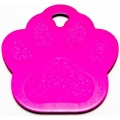Engraved Pink Paw Print Dog Tag - Cat Tag