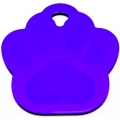 Engraved Purple Paw Print Dog Tag - Cat Tag