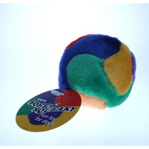 Squishy Ball Dog Toy : PPI soft n squeak play ball large
