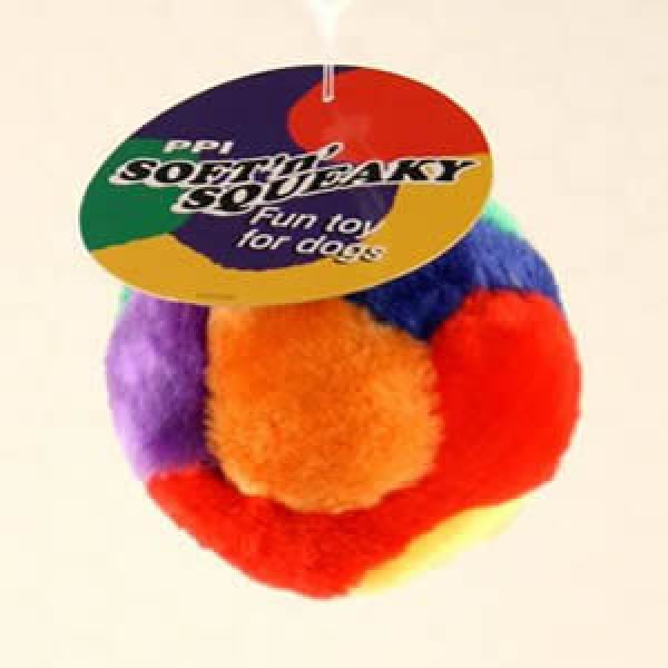 Squishy Ball Dog Toy : PPI soft n squeak play ball small