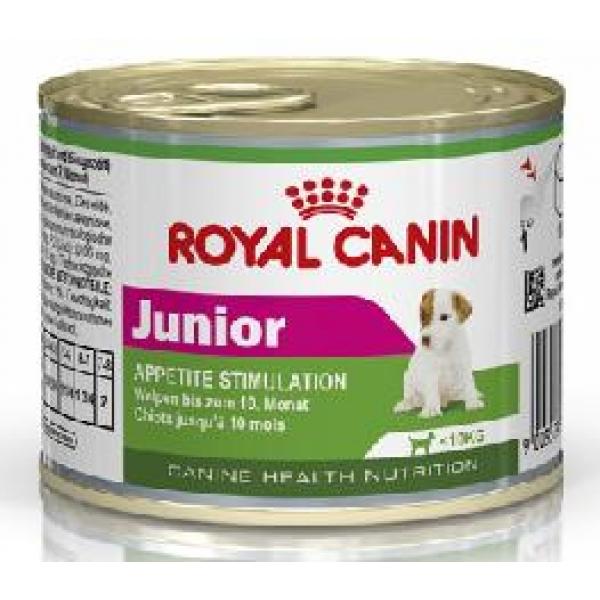 royal canin junior dog wet 195g can. Black Bedroom Furniture Sets. Home Design Ideas