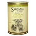 Simpsons Adult Dog Food Kangaroo With Organic Vegetables 400g Can Grain Free