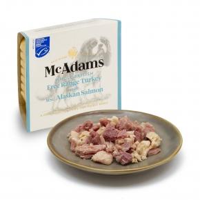 McAdams Dog British Free Range Turkey & MSC Salmon 150g