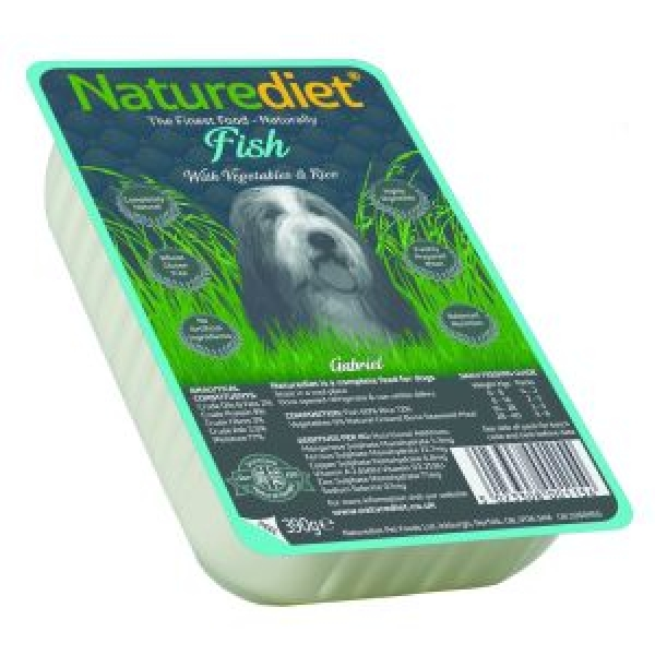 Naturediet fish and rice recipe for dogs 390g for Fish and rice diet