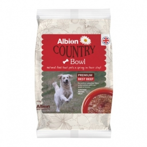 AMP Frozen Albion Country Bowl Premium Beef 454g Complementary Feed
