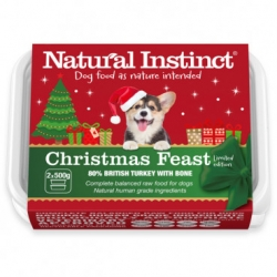 Natural Instinct Natural Christmas Feast Dog Food 2 X 500g Twin Pack Frozen