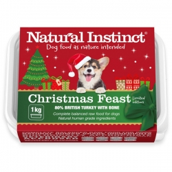 Natural Instinct Natural Christmas Feast Dog Food 1kg Frozen