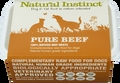 Natural Instinct Pure Raw Beef Dog (2x 500g) Twin Pack Frozen