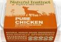 Natural Instinct Pure Raw Chicken Dog (2x 500g) Twin Pack Frozen