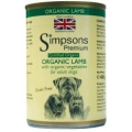 Simpsons Organic Lamb With Organic Vegetables Grain Free Adult Dog   400g Can