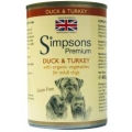Simpsons Adult Dog Food Duck & Turkey With Organic Vegetables Grain Free  400g Can