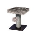 Abode Luxe Fur & Wood Scratching Post 45cm