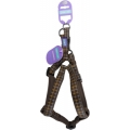 """Dog & Co Country Nylon Padded Harness Brown Check 1 """" X 24 - 28 """" Hemmo & Co"""