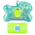 B.O.B Bone Dispenser Marble Effect Turquoise with 30 Bags