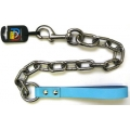 """Huge Extra Heavy Chain Lead 1"""" x 34"""" Blue British by Design"""