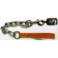 """Huge Extra Heavy Chain Lead 1"""" x 26"""" Tan British by Design"""