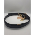 Dogmatic Leather Training Lead Black With Brass