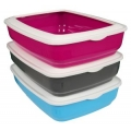 Animal Instincts Giant Cat Litter Tray With Rim 50cm Grey, Pink or Blue