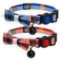 Cat Circus Jewelled Tartan Bow Cat Collar