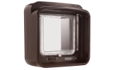 Sure Flap Dual Scan Microchip Cat Flap - Brown