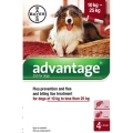 Advantage 250 Flea treatment Dog 10kg up to 25kg 4 pipette