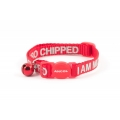 Ancol Safety Buckle Cat Collar I Am Micro chipped Red