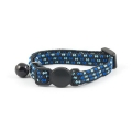 Ancol Safety Buckle Kitten Collar Elasticated Blue/Black