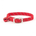 Ancol Safety Elastic Cat Collar Softweave Red