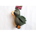 Animate Green Puffin Bird Dog Toy With Squeaker 9.5""