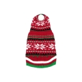"""Animate 10"""" Red Christmas Snow Flake Hooded Jumper"""