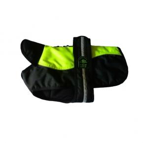 """Animate - Outhwaite Reflective Hi-Viz / Black Padded Underbelly Harness Coat 26"""" (66cm)"""