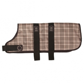 """Animate  Outhwaite Brown Becker Check Padded Dog Coat 26"""""""