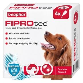 Beaphar Fiprotec Spot On Medium Dog 134mg X 4 New Style