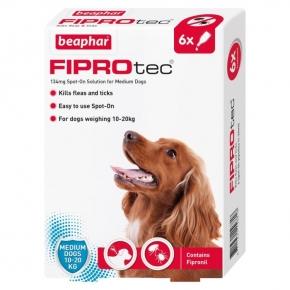 Beaphar Fiprotec Spot On Medium Dog 134mg X 6 New Style